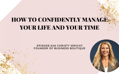 HOW TO CONFIDENTLY MANAGE YOUR LIFE AND YOUR TIME   CHRISTY WRIGHT